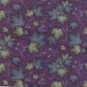 Moda - Summer on The Pond by Holly Taylor - 5729 - Maple Leaves on Purple  - 6722 18 - Cotton Fabric